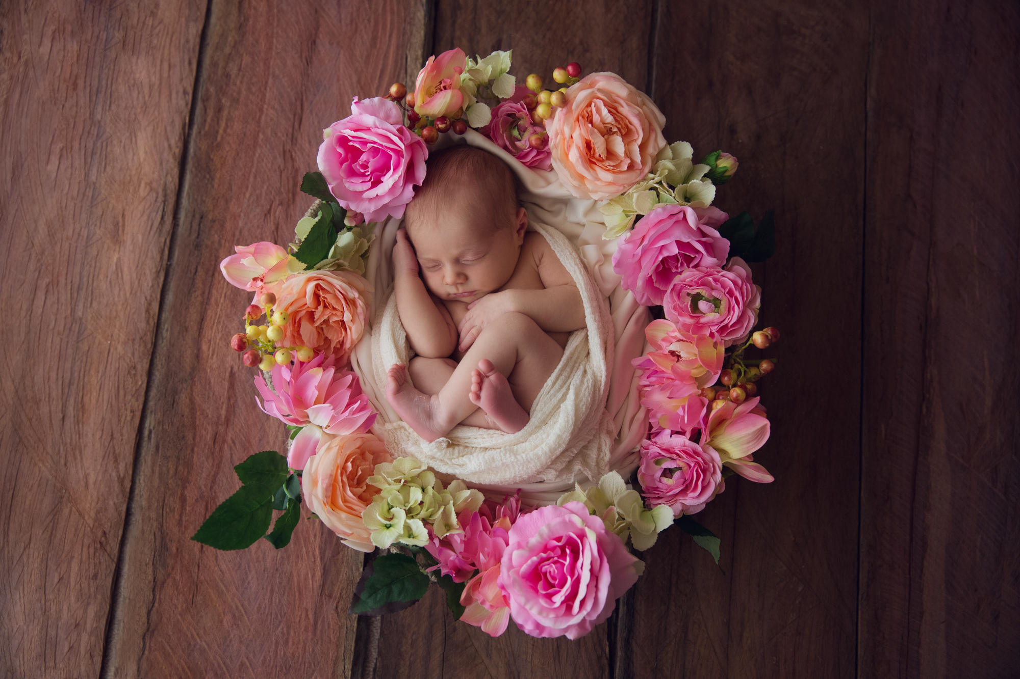 Newborn-Baby-Flower wreath